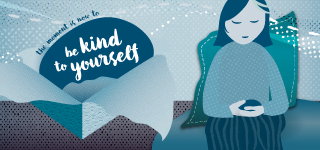 Be kind to yourself - weekly pebble and mindfulness newsletter