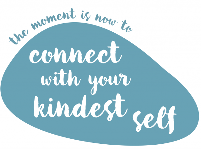"""This pebble says """"connect with your kindest self"""""""